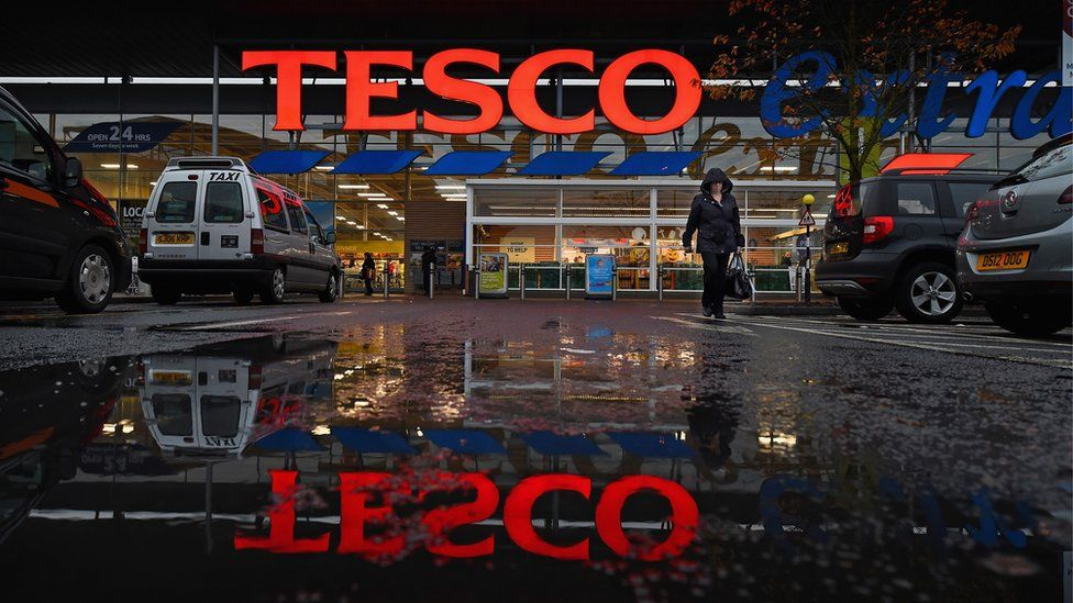 A general view of a Tesco supermarket