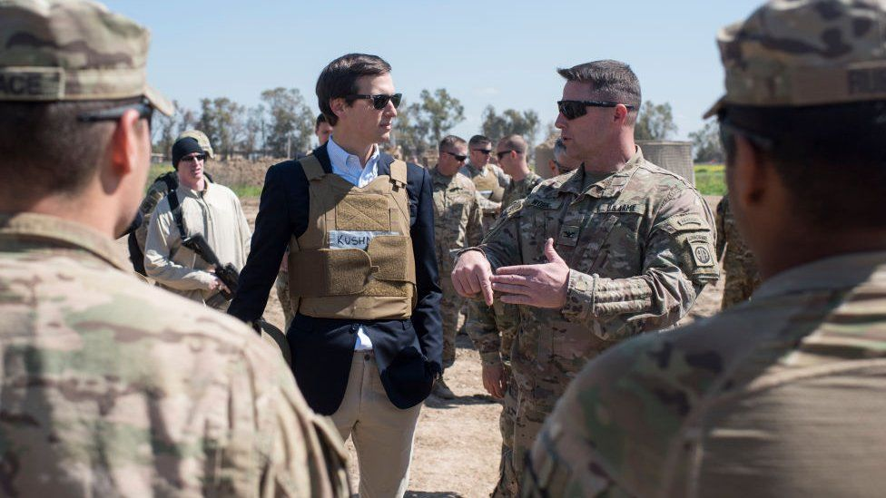 Kushner met with US forces in western Iraq during a trip to the country in early April