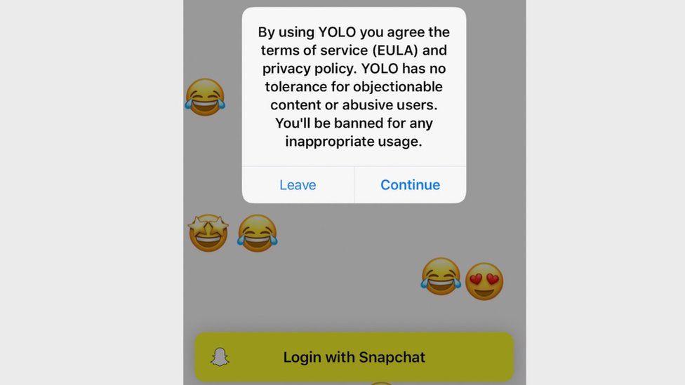 Yolo: Viral Snapchat app raises abuse concerns - BBC News