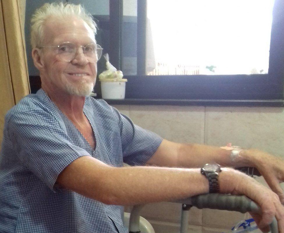 Ivor in hospital