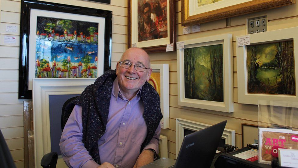 Michael Hughes, owner of Portstewart Galleries