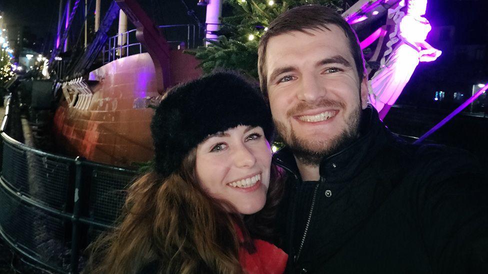 Daniel Payne with his girlfriend Laura