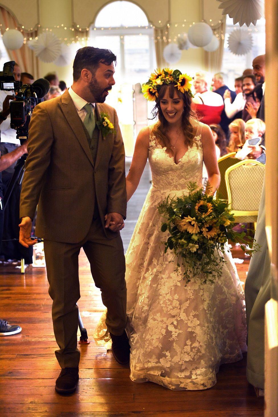 Kayley and Joe at their wedding