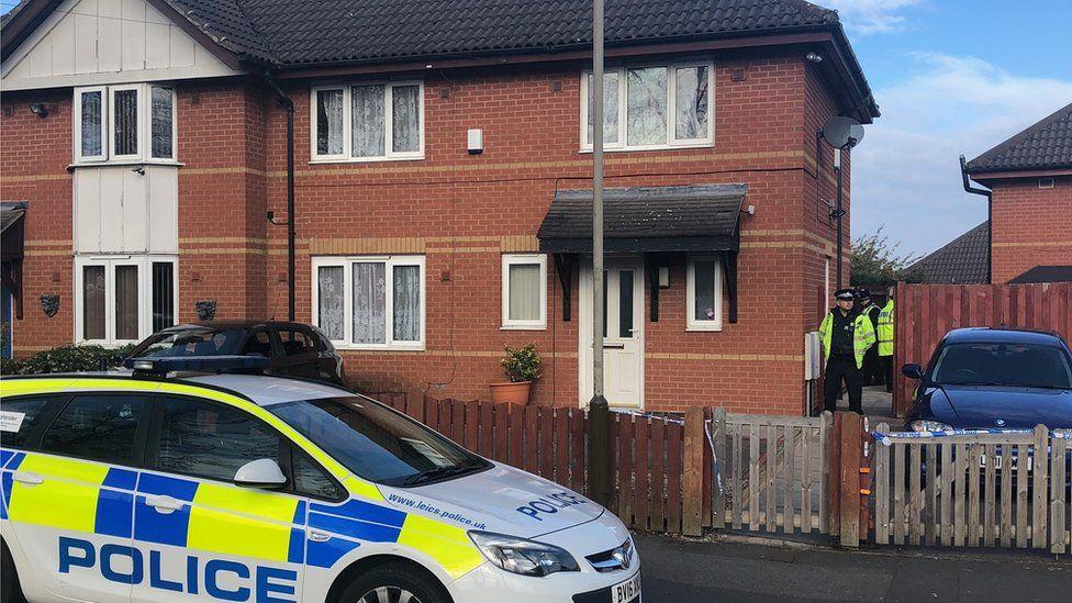Police outside Southfields Drive