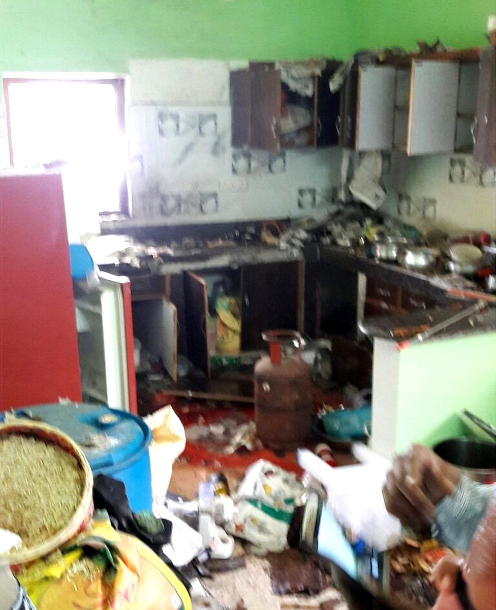The kitchen after the explosion