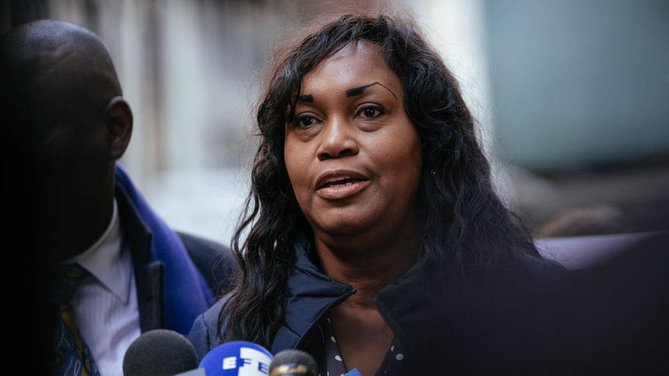 Tamara Lanier speaks during a press conference announcing a lawsuit against Harvard University on March 20, 2019 in New York City