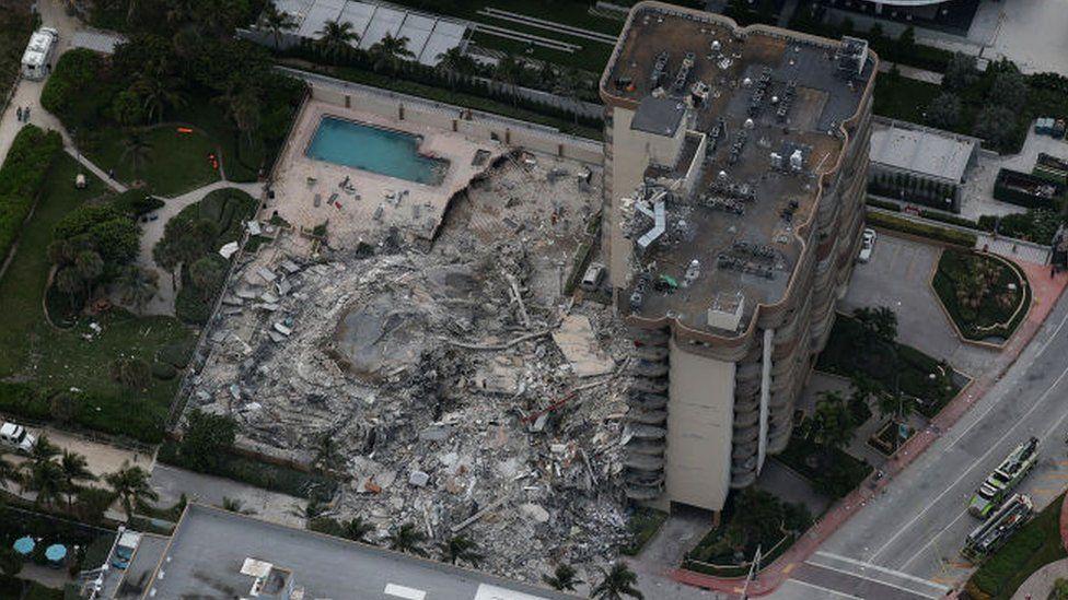 Condo complex in Surfside, Florida (24 June)