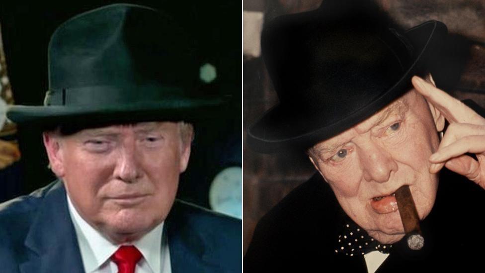 Donald Trump and Winston Churchill
