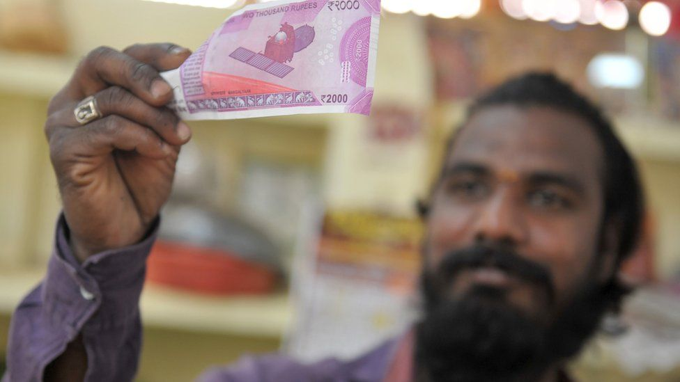 The new 2,000 rupee note