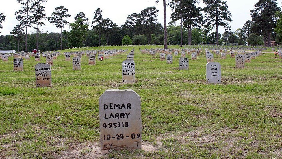 If an inmate's family does not make other arrangements, they are buried in this prison cemetery in Huntsville, Texas
