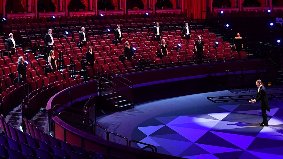 The BBC Singers at the First Night of the Proms