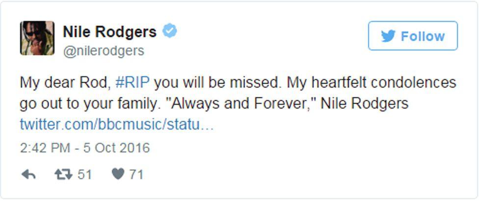 @nilerodgers Twitter tribute