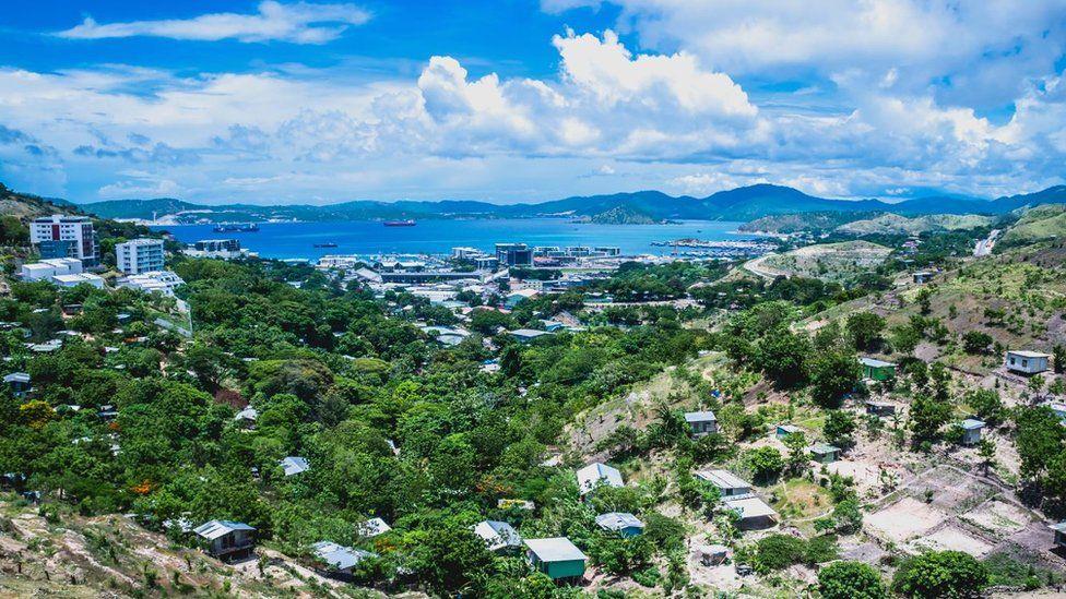 Vista de Puerto Moresby