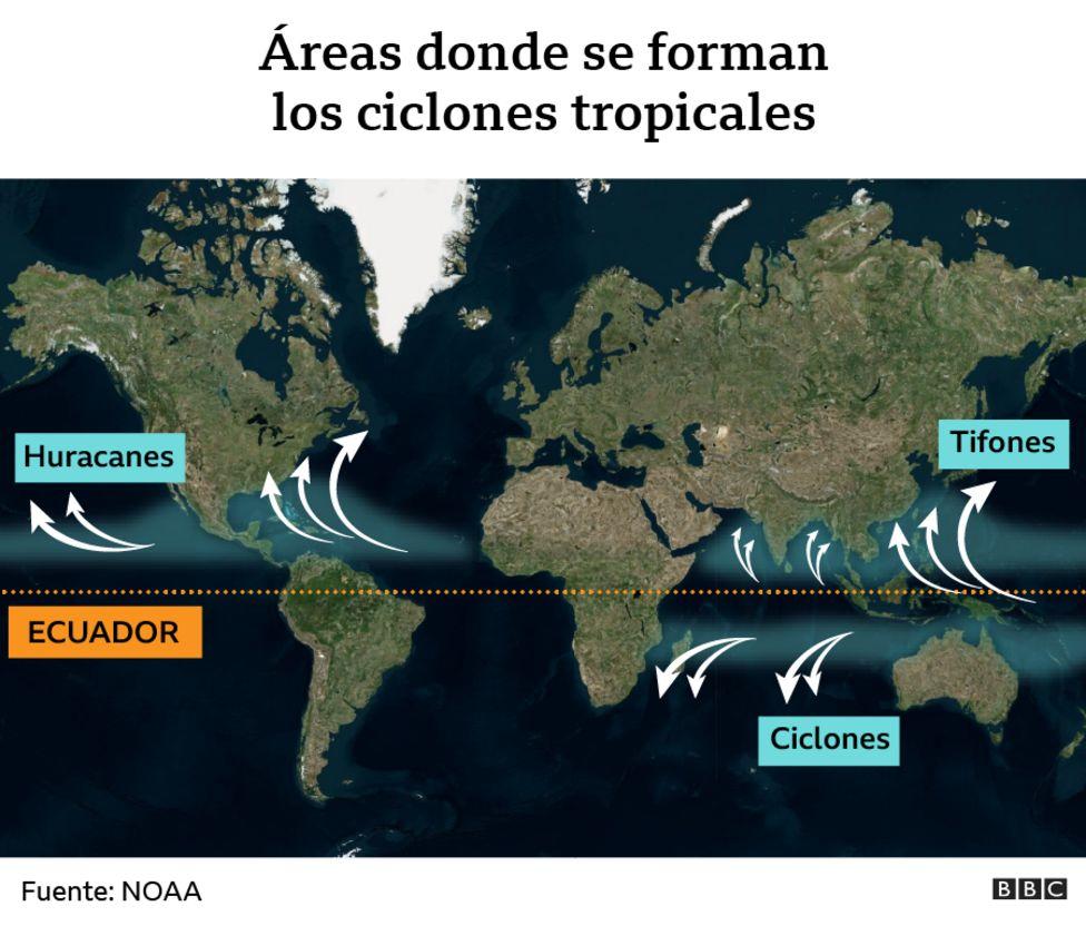 Zonas donde se forman ciclones tropicales