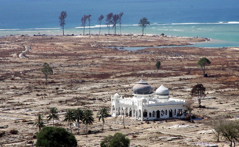 Aceh's Grand Mosque after the 2005 tsunami
