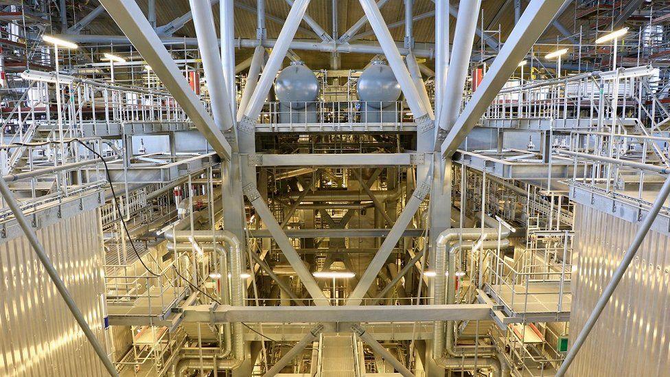 Interior of the Copenhill incinerator