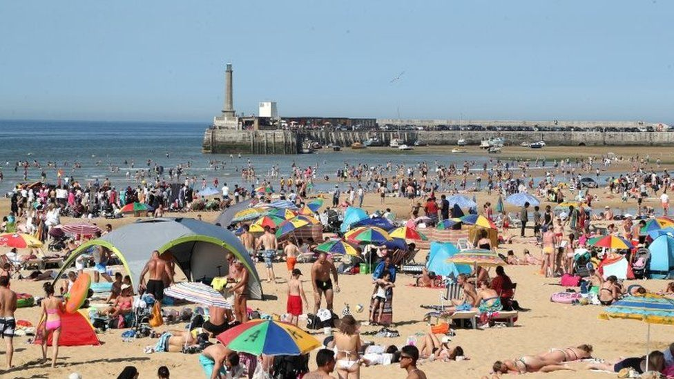 The beach in Margate, Kent