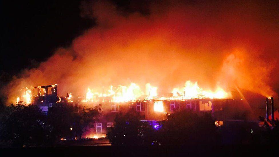Fire at Weybridge Community Hospital