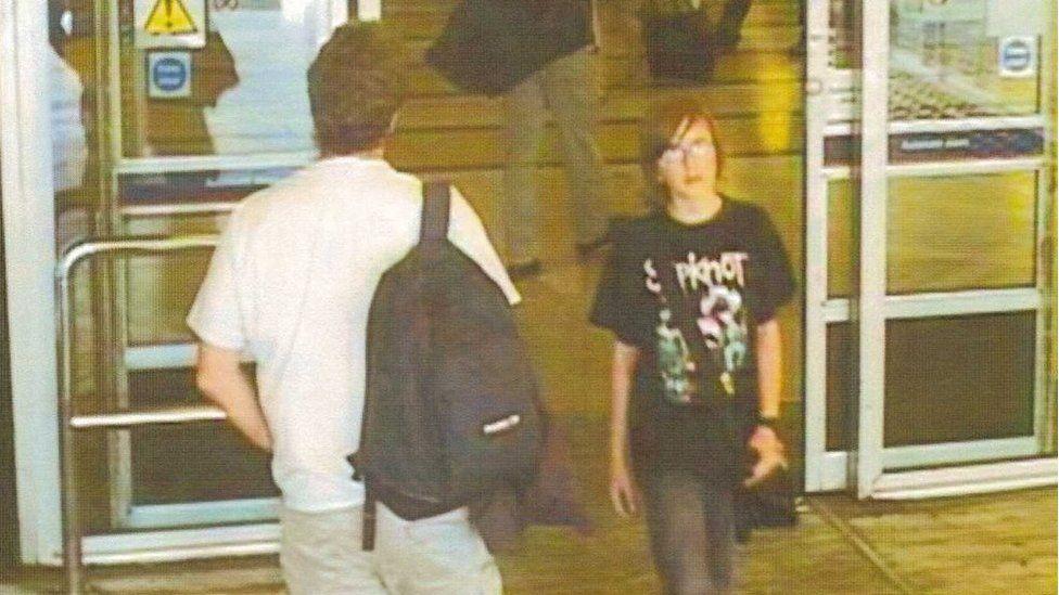 CCTV image of Andrew Gosden at King's Cross station