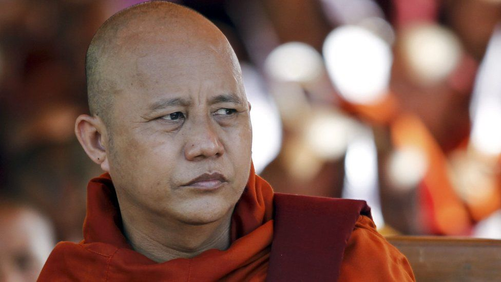 Mandalay monk Ashin Wirathu during the rally to mark the triumph of Nationality Protection Law in Mandalay