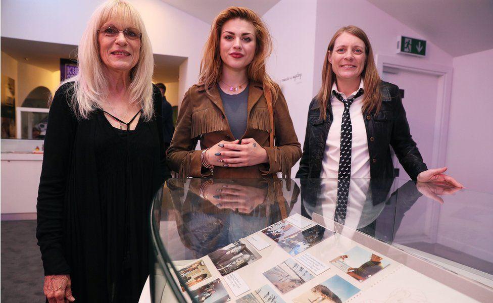 "Kurt Cobain""s mother Wendy O""Connor (left) daughter Frances Bean Cobain (centre) and sister Kim Cobain"