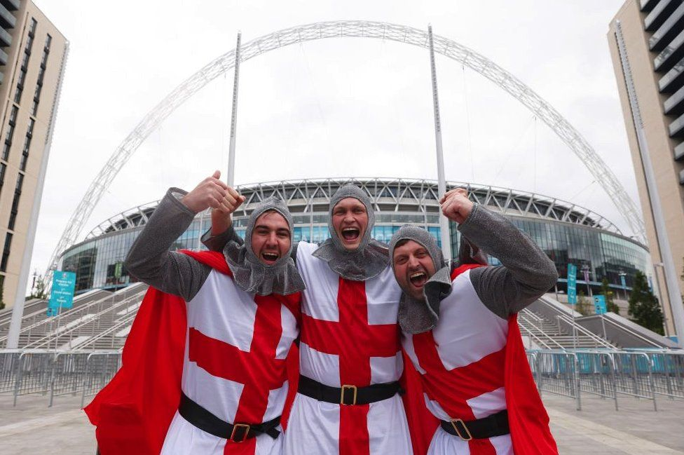 Three England fans