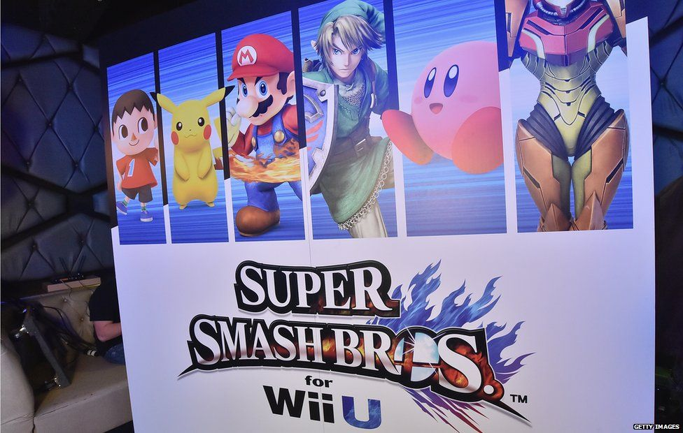 A general view of atmosphere during the Super Smash Bros for Wii U event in West Hollywood, CA on 11 November 2014 in Los Angeles, California