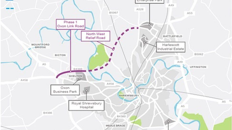 Shrewsbury bypass plan \'given £54m Government boost\' - BBC News