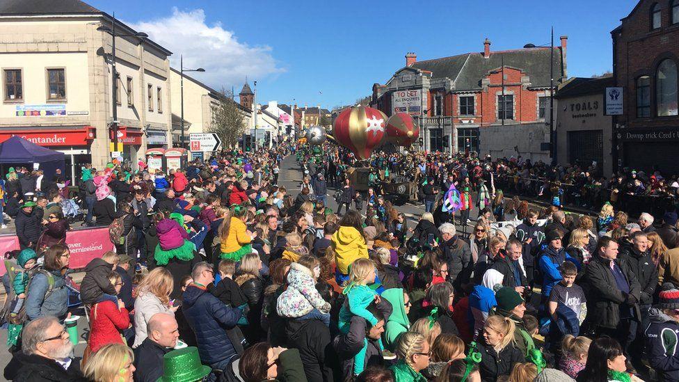 Downpatrick's annual parade in full swing
