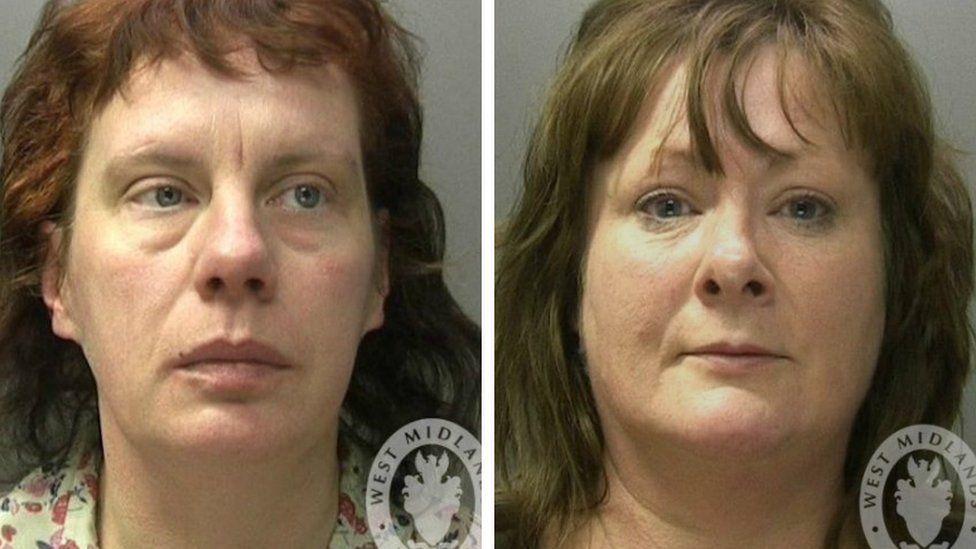 Joanne Hoye, 42 and Elaine Potts, 50