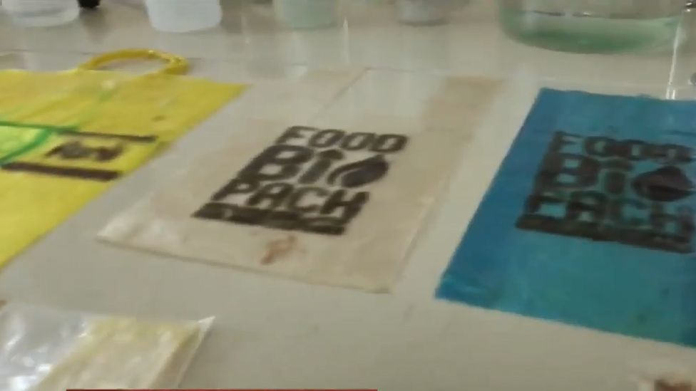 Ukrainian edible carrier bag