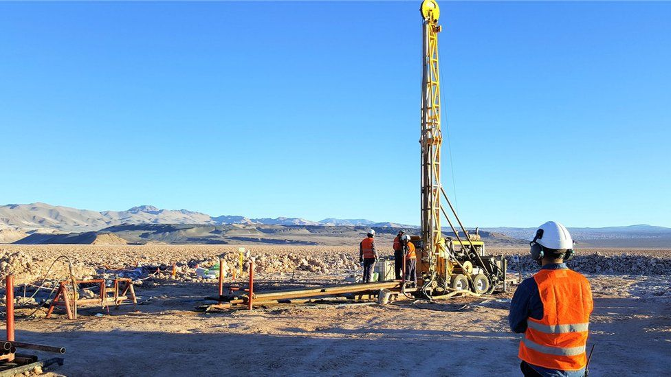 Drilling at the Kachi site, Argentina