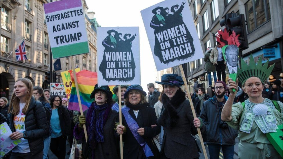 Women at march