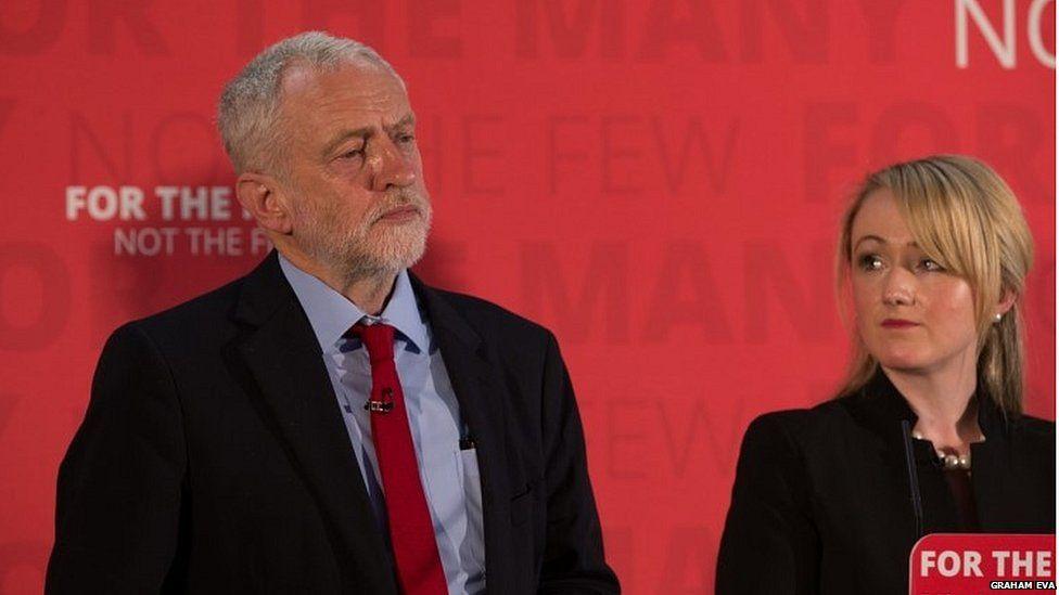 Rebecca Long-Bailey and Jeremy Corbyn in 2017