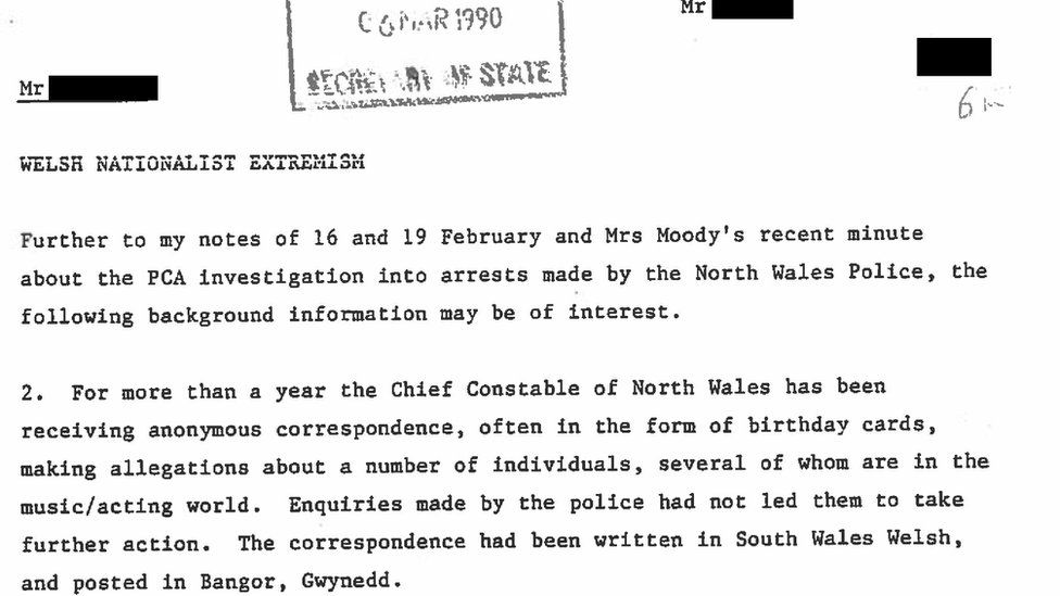 Extract from confidential papers