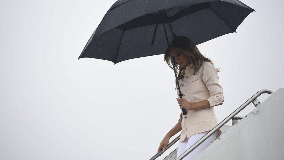 Melania Trump arrives in Texas, 21 June 2018