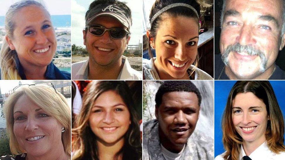 Some of the victims (Top L to R) Carrie Barnette, Sonny Melton, Hannah Ahlers, John Phippen, (Bottom L to R) Dana Gardner, Angie Gomez, Charleston Hartfield, Rachael Parker