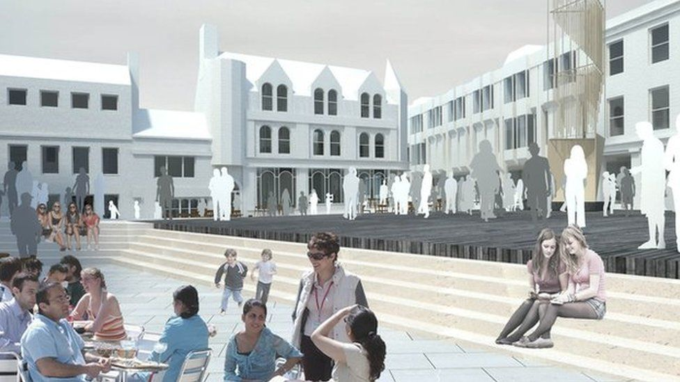 Artist's impression of the tower on the Cornhill