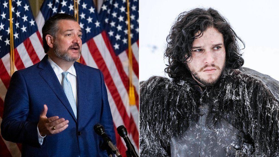Ted Cruz and Kit Harrington as Jon Snow