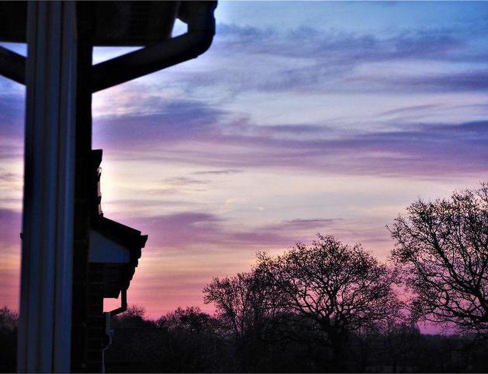 The sunrise in Croft
