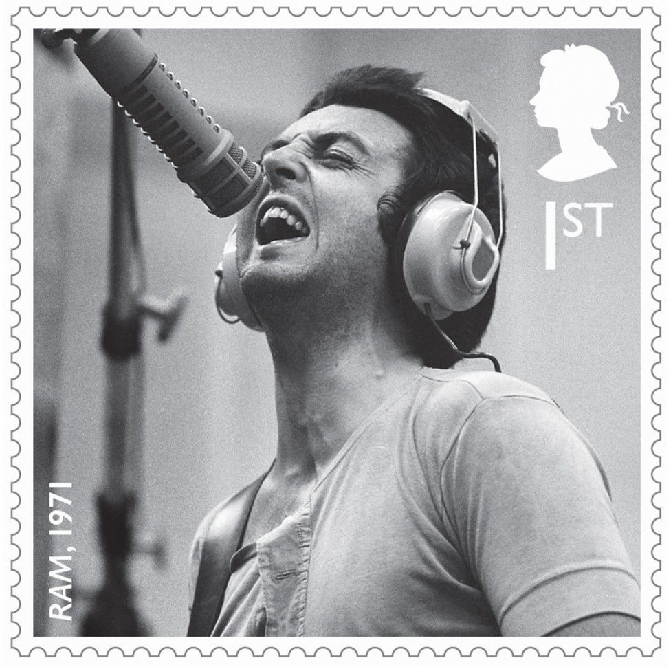 One of a set of stamps that are being issued as a tribute to the musical contribution of Paul McCartney