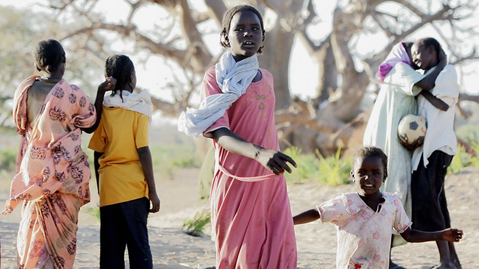 Young Darfuris at a camp in the city of Nyala, in Darfur, Sudan - archive shot