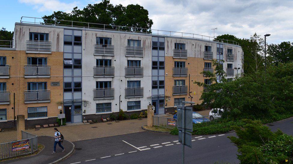 A block of flats in Broadfield, Crawley