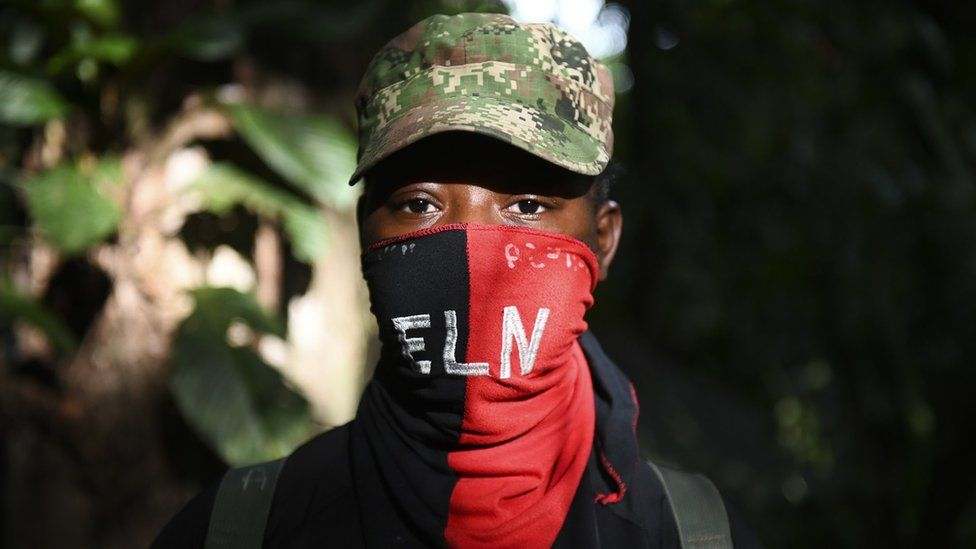 An ELN rebel in the Colombian jungle on 24 May 2019