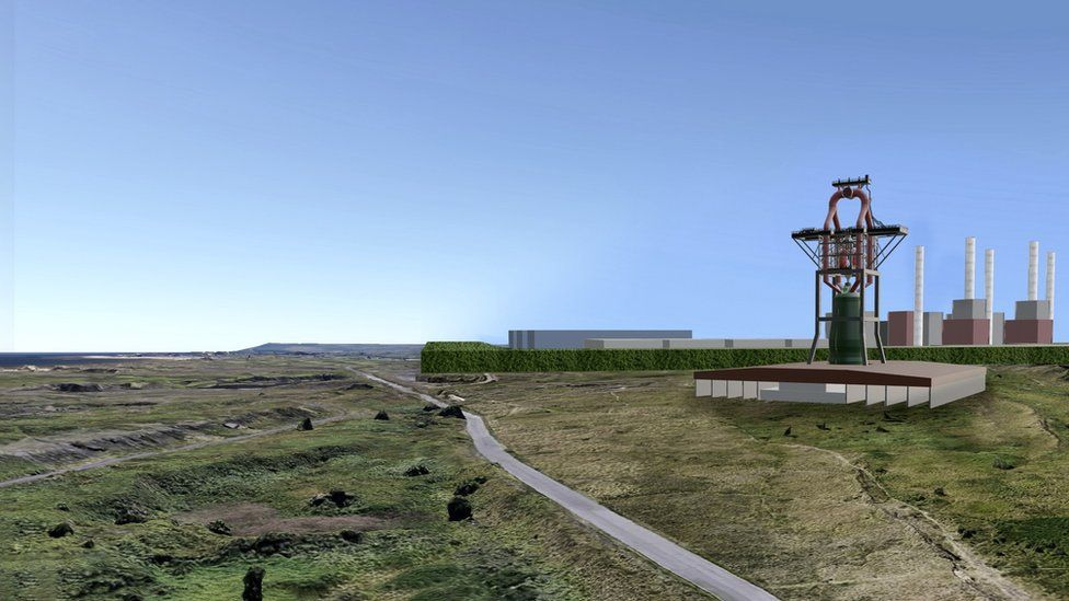 An artist's impression of the Redcar blast furnace