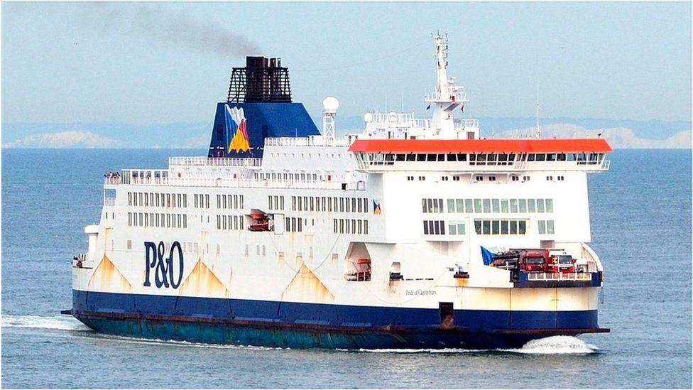 Ferry off Calais