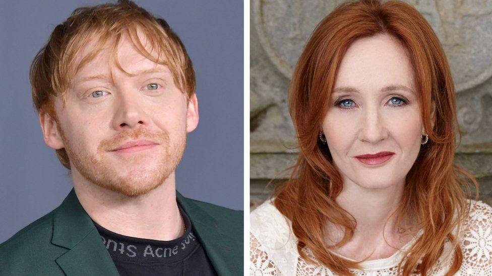 Rupert Grint and JK Rowling