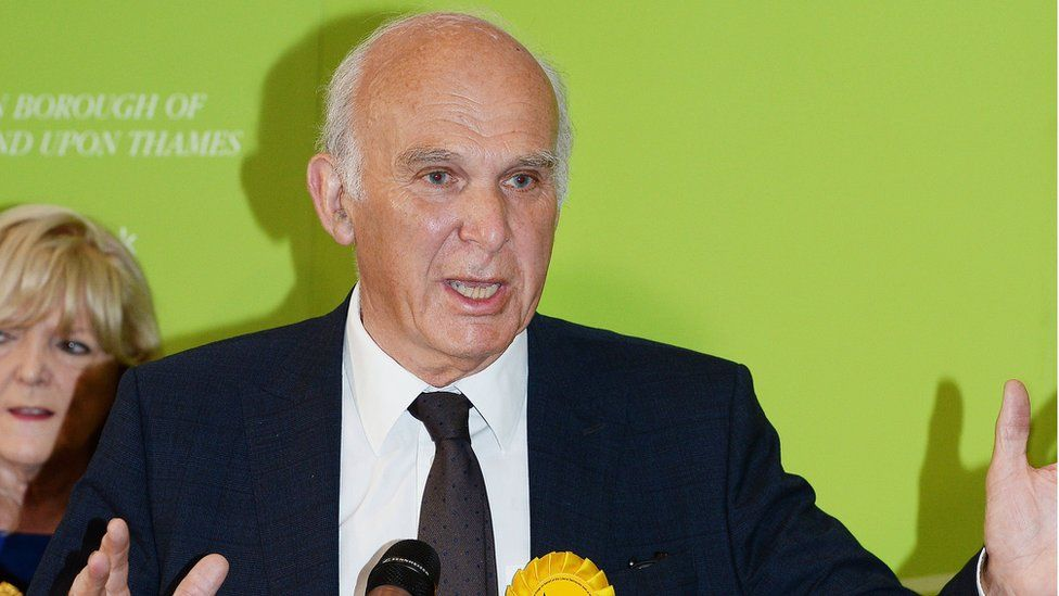 Sir Vince Cable speaks after winning the Twickenham seat