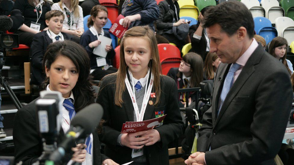 School Reporters and Lord Coe