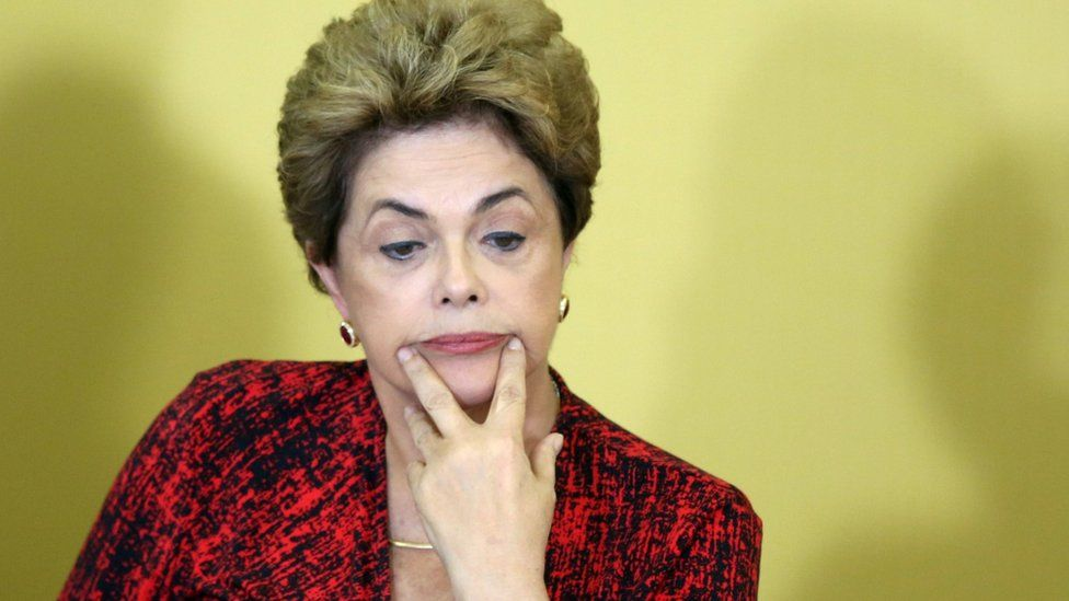 Dilma Rousseff attended a university ceremony in Brasilia on Monday while the confusion was ongoing